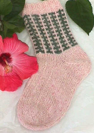 Vernal Equinox Socks knitting e-Pattern picture
