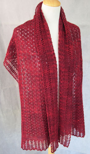 Reversible Eyelet Cables Stole pattern picture