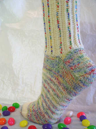 Mixed Jelly Beans Socks e-Pattern picture