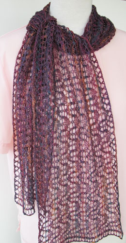 Lacy Serpentine Scarf e-Pattern picture