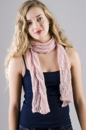 Lace and Cables Scarf Pattern picture