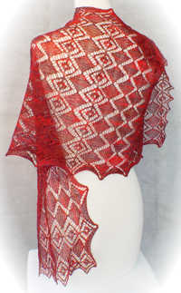 Faceted Gems Lace Wrap e-Pattern picture