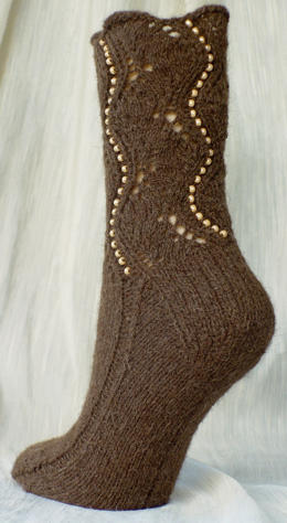 Buffalo Beaded Socks e-Pattern picture