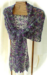 Scotch Thistle Lace Stole e-Pattern picture