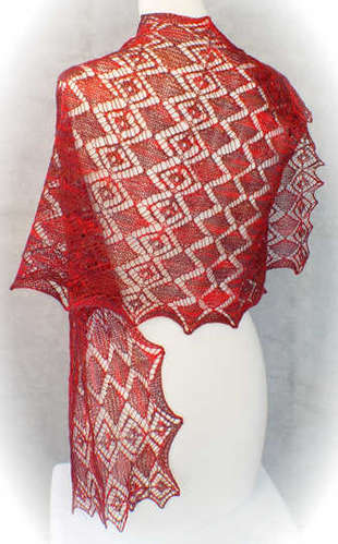 Faceted Gems Lace Wrap Pattern picture