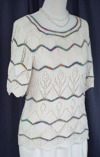 Chevron Lace Gardens Sweater e-Pattern picture