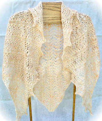 Elegantly Simple Triangle Shawl Pattern picture