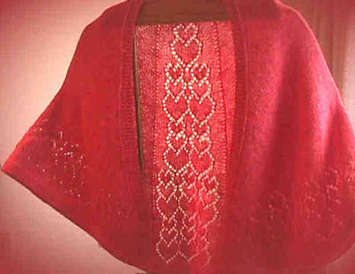 Cascading Hearts Shawl Pattern picture