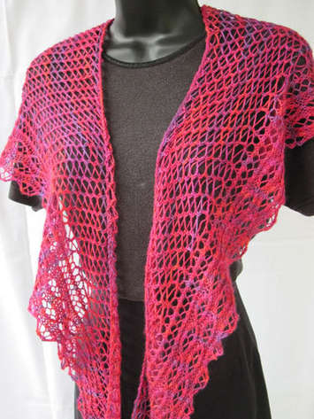 Loganberry Crescent Shawl e-Pattern picture