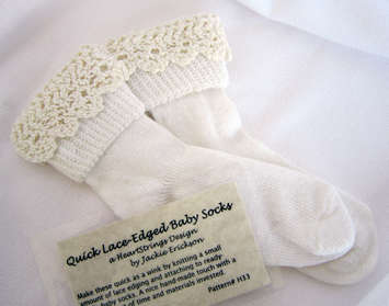 Quick Lace-edged Baby Socks e-Pattern picture