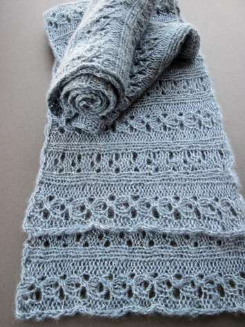 Times Two Sideways Reversible Scarf pattern picture