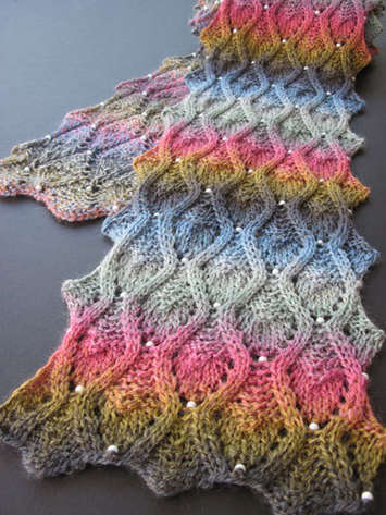 Peek-a-Bead Scarf e-Pattern picture