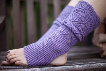 Austrian Lace Stirrup Leg Warmers e-Pattern picture