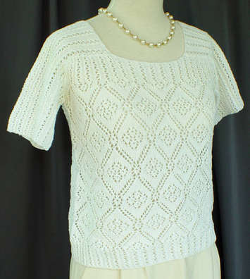 Rose Trellis Lace Sweater Pattern picture