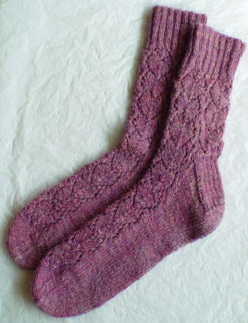 Heart Socks e-Pattern picture