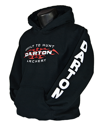 Black Hooded Sweatshirt Loud and Proud with Hard Metal Darton Logo front, back & sleeves picture