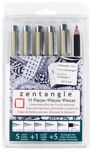 Zentangle, 11-piece, 3.5&quot; tile set picture
