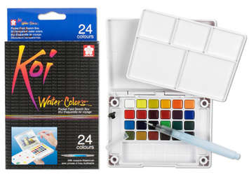 Koi Watercolor, Pocket Field Sketch Box, 24 colors picture
