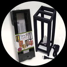 "5"" x 15"" Paper Fusion Lamp Kit - Black picture"