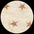 """Unryu-Cream with Copper Stars, 25"""" x 35"""""""