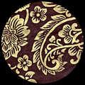 "Nepalese Janaki Screenprint - Gold on Chocolate - 20"" x 30"""
