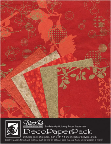 "Deco Paper Pack Large-8.5"" x 11"" Chinaberry–Red picture"