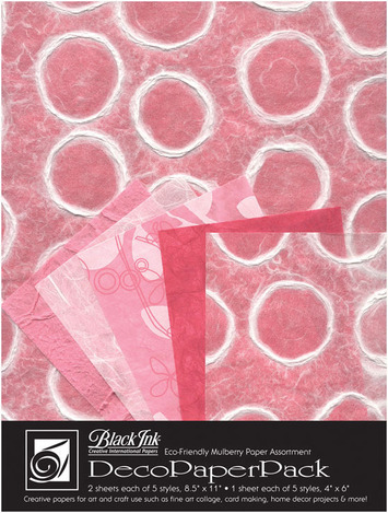"Deco Paper Pack Large-8.5"" x 11"" Tickled Pink picture"