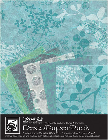 "Deco Paper Pack Large-8.5"" x 11"" Chinaberry–Aqua picture"
