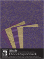 "Deco Paper Pack Large-8.5"" x 11"" Napa-Purple"