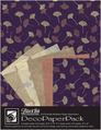 "Deco Paper Pack Large-8.5"" x 11"" Metallic Ginkgos"