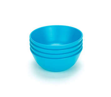 Green Eats Snack Bowls - Blue (4 pack) picture