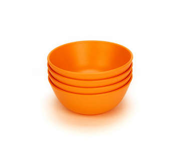 Green Eats Snack Bowls - Orange (4 pack) picture