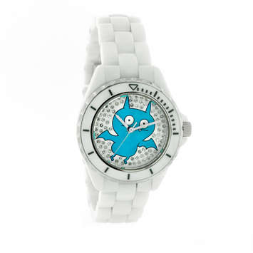 ICE-BAT White Ceramic Watch with Swarovski® Crystal LIMITED EDITION picture