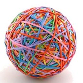 """The One Pounder"" Rubber Band Ball Kit - Header Bag"