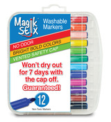 Magic Stix 12pk- Washable Markers