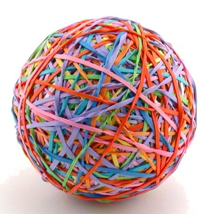 """The One Pounder"" Rubber Band Ball Kit - Header Bag picture"