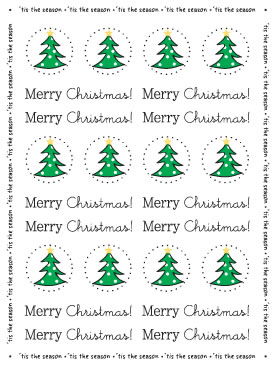 Stickers by the Dozen - Christmas picture
