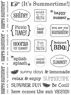 Sticker Sentiments - Summer picture