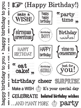 Sticker Sentiments - Birthday picture