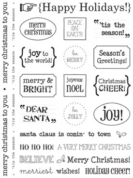 Sticker Sentiments - Happy Holidays picture