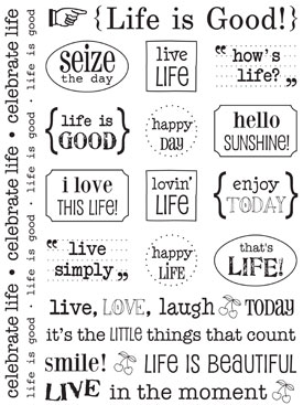 Sticker Sentiments - Life is Good picture