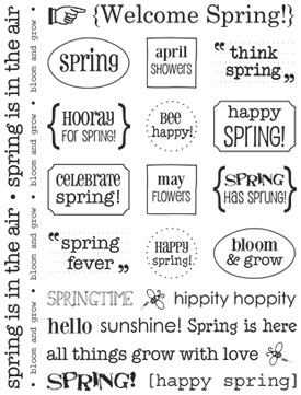 Sticker Sentiments - Spring picture