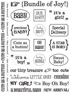 Sticker Sentiments - Baby picture