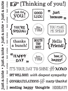 Sticker Sentiments - Thinking of You picture