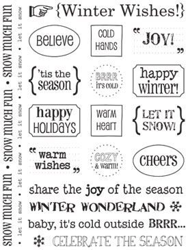 Sticker Sentiments - Winter picture