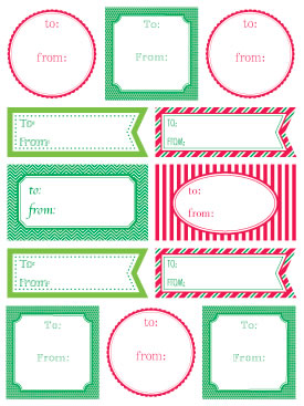 Labels by the Dozen - Christmas picture