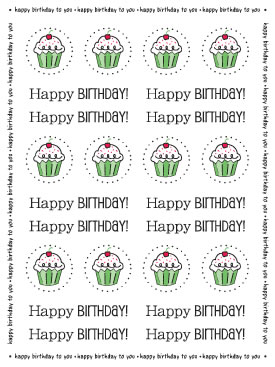 Stickers by the Dozen - Birthday picture