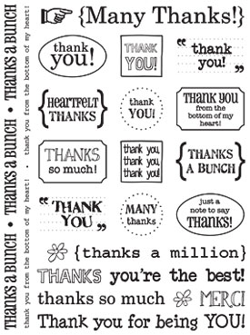 Sticker Sentiments - Thank You picture