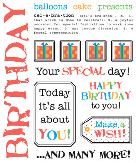 Say It With Stickers - Birthday picture