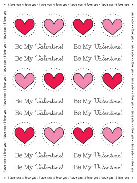 Stickers By the Dozen - Valentine picture